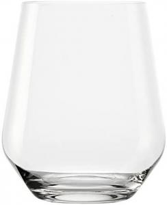 Set 6 bicchieri acqua in vetro cristallo, 370 ml Revolution cm.10h diam.8,5