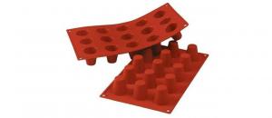Stampo in silicone rosso mini Babà mm 35