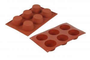 Stampo in silicone rosso medium Muffin m 69 cm.39x19x3,5h