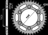 102746C45 CORONA P.520 ACCIAIO ZINCATO Z 46 DUCATI MONSTER MOTOCICLI PBR