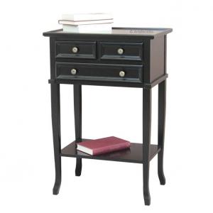 Mueble telefonera de madera 3 cajones y estante