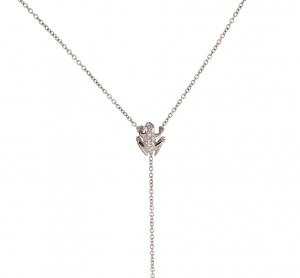 Collana Y-shape in oro bianco e diamanti