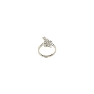 Collana Happy Frog in oro bianco e diamanti