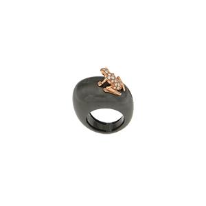 Mono orecchino Happy Frog in oro rosa e diamanti