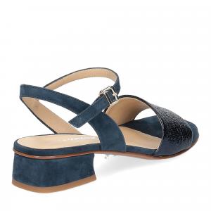 Andrea Schuster sandalo 310 in camoscio blu-5