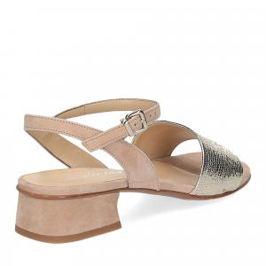 Andrea Schuster sandalo 310 in camoscio beige-5