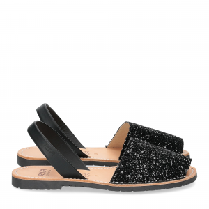 Ria Menorca sandalo minorchina nero glitter-1