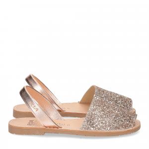 Ria Menorca sandalo minorchina oro rosa glitter-1