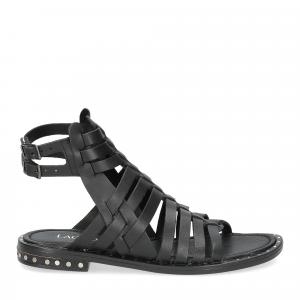 Il Laccio sandalo F-288-8 pelle nero-2