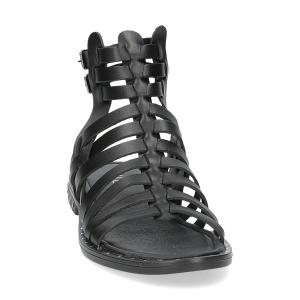 Il Laccio sandalo F-288-8 pelle nero-3