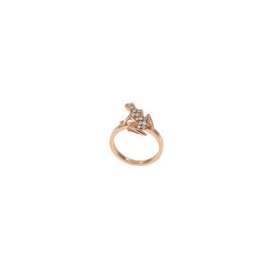Orecchini Happy Frog in oro rosa e diamanti