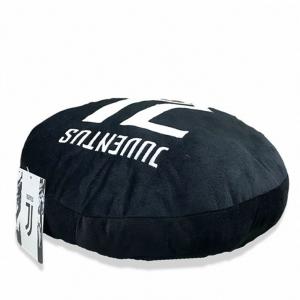 JUVENTUS cuscino rotondo stemma ricamato new logo in morbido peluches 34cm circa