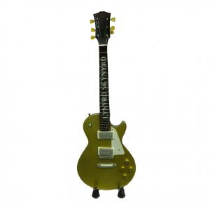 Miniatura chitarra LYNYRD SKYNYRD in legno dipinto con base per appoggiare
