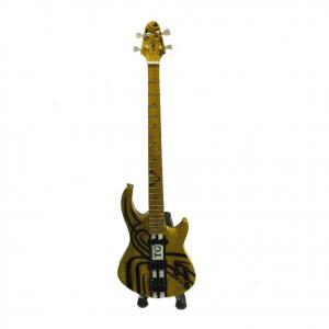 Miniatura chitarra TG in legno chiaro dipinto con base per appoggiare 25,5cm