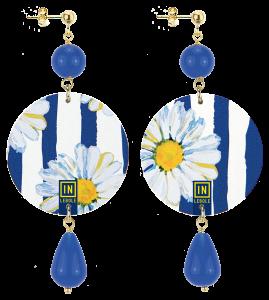 Orecchini The Circle Flowers INLebole Blu