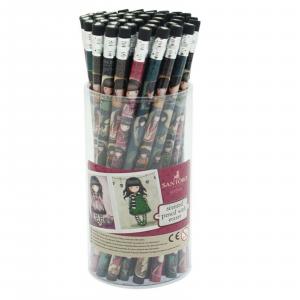 GORJUSS SANTORO matita stampata RUBY con gommino nero e cuoricino bianco