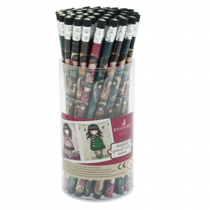 GORJUSS SANTORO matita stampata THE SCARF c/gomma nera e cuoricino bianco
