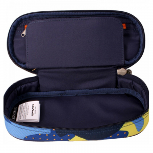 Astuccio ovale SEVEN pencilbag CAMOUFLAGE BLU 23X10X5,5 cm