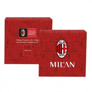 Bracciale AC MILAN prodotto ufficiale doppia striscia in PVC rossonera+CREST