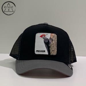 Goorin Bros - Animal Farm Truckers - Pecker, nero, grigio, rosso.