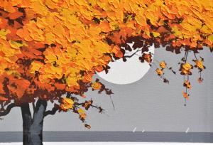 MONDELLI GIO' Un albero e il mare Tecnica mista su tela Formato cm 40x40