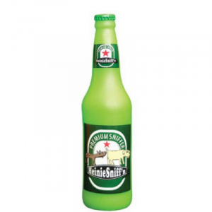 TUFFY SILLY SQUEAKER BEER BOTTLE HEINI SNIFF IN LATTICE
