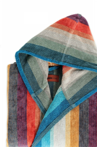Bathrobe with hood unisex sponge Missoni SALE WOODY
