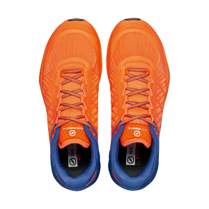 SPIN ULTRA      -   Trail running model for top runners   -   Orange Fluo-Galaxy Blue
