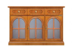 Aparador con puertas vítreas estilo clásico