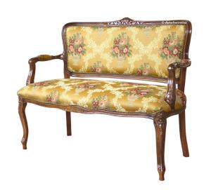 Sofá clásico respaldo y asiento tapizados Romeo y Julieta