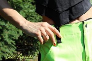 Pantaloni unisex addestramento outdoor con tasconi Dell'Agoghè