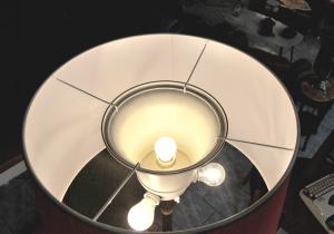 Lampada vintage da terra anni '50