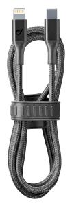 Cellularline Cosmic Cable - USB Type-C to Lightning Cavo USB con cinturino in silicone Nero