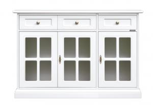 Aparador puertas vitrinas laqueado blanco negro o marfil