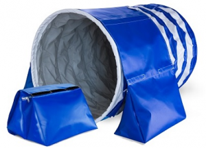 Sacco ferma tunnel agility, sacchi di riempimento acqua, sabbia o similari