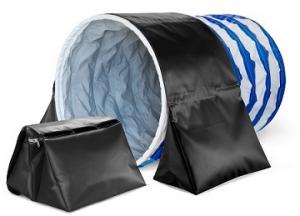 Sacche ferma tunnel agility, sacchi di riempimento acqua, sabbia o similari