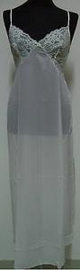Camicia da notte spallina stretta. LE STELLE. MADE IN ITALY. Bianco e blu. 006