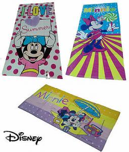 Telo - asciugamano mare Bambina, spugna. Disney - MINNIE. 75 x 150. 3 Fantasie.