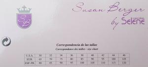 Reggiseno con ferretto. Susan Berger by SELENE, mod. ALGOLIM Intimo donna