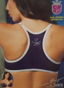 Reggiseno sport, fitness con ferretto. Susan Berger SELENE, ATENEA Intimo donna