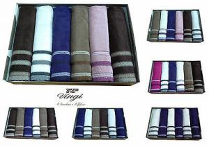 Set 12 asciugamani spugna. VINGI RICAMI, FASHION. 6 Viso + 6 ospite. 100% Cotone