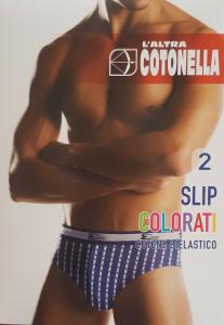 Slip Uomo 2 pezzi. L' ALTRA COTONELLA 2383 - 0L100 in Cotone Bielastico. Intimo.