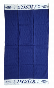 Telo - asciugamano mare, piscina 90 x 160 a nido d' ape in Cotone 100%. ISCHIA.