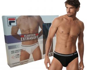 Slip Uomo 2 pezzi bipack elastico EXTRA SOFT FILA F01BP Intimo stretch Cotton