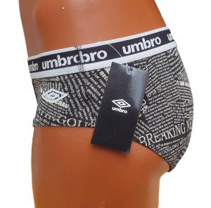 Slip Uomo 6 pezzi elastico esterno. UMBRO 5006 in Cotone elasticizzato. Intimo.