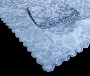 Tovaglia di Fiandra rettangolare + Tovaglioli da 12 e 18 posti in 100% Cotone.