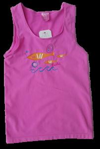 POMPEA. FRUIT POP 1. Canotta BARBIE bambina, bimba, spalla larga in microfibra.