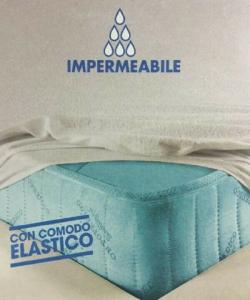 Coprimaterasso con elastico, sanitario, impermeabile, cerato, PARIGI LINEA AMBRO