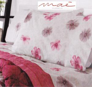 Completo letto lenzuola in Flanella, 150 Fili INCH. LARA, MAE. Singolo, 1 piazza