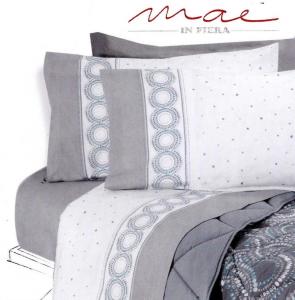 Completo letto lenzuola in Flanella, 100% Cotone. CLASS, MAE. Singolo, 1 piazza.